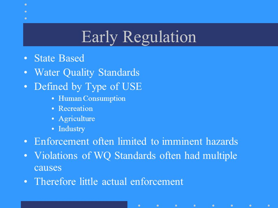 Variances Possible, but uncommon  Companies have gone out of business b/c of inability to meet standards and denial of variances FDF: only where operate in fundamentally different fashion than tested industry –No less stringent –No more serious environmental impacts
