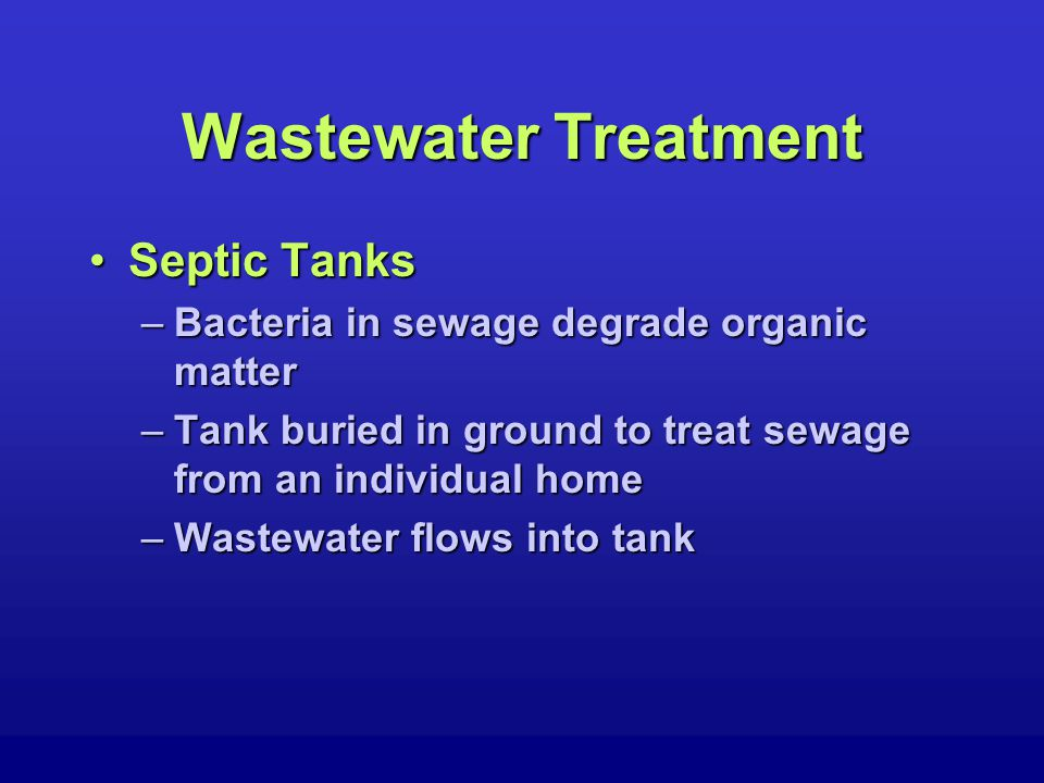 Wastewater Treatment Water Quality ProtectionWater Quality Protection –Federal Laws Clean Water Act (1977)Clean Water Act (1977) Water Quality Act (1987)Water Quality Act (1987) U.S.