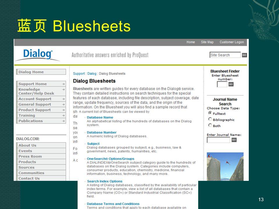 蓝页 Bluesheets 13