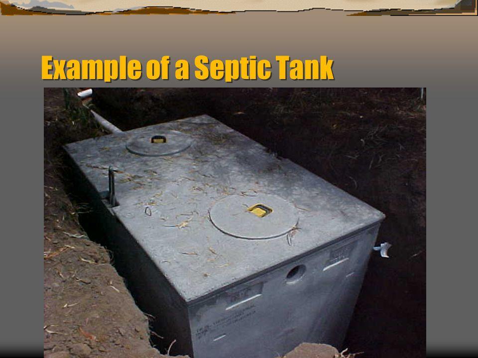 Tank tied to leachfield