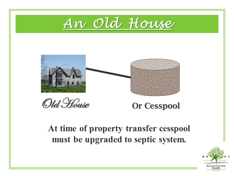 Seepage Pit Septic Tank Septic Tank Old House An Old House