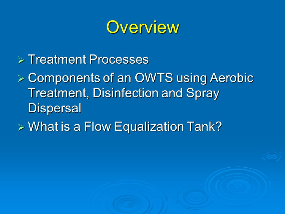 Aerobic Treatment Unit System