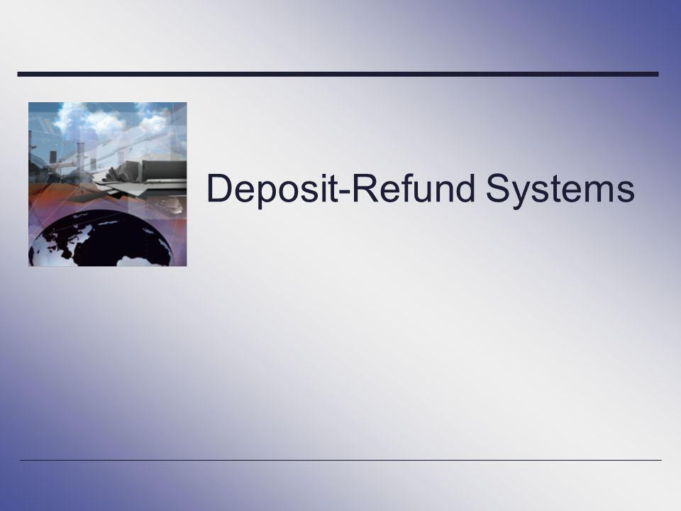 Deposit-Refund Systems