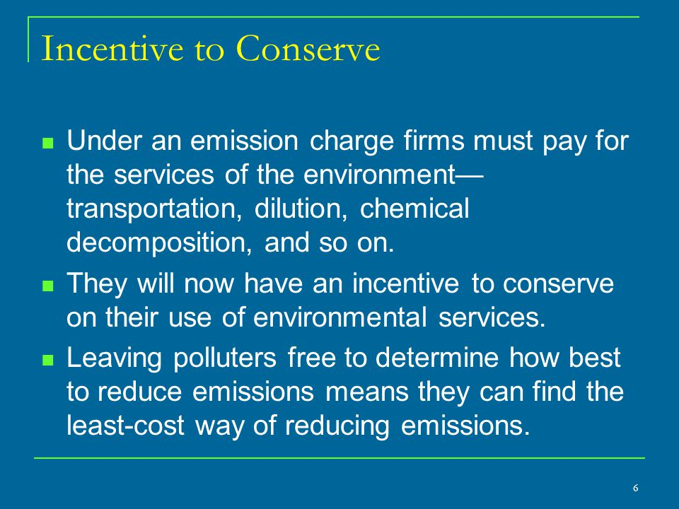 How it Works Table 12-1 uses the same numbers as in the preceding discussion on emission charges.