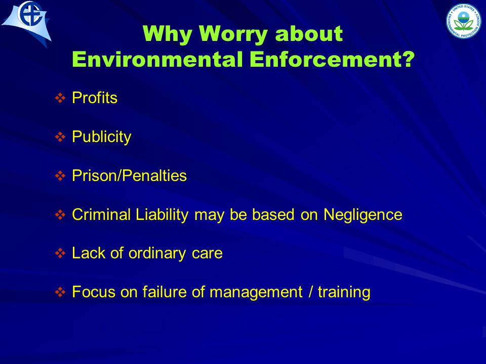 Why Worry about Environmental Enforcement.