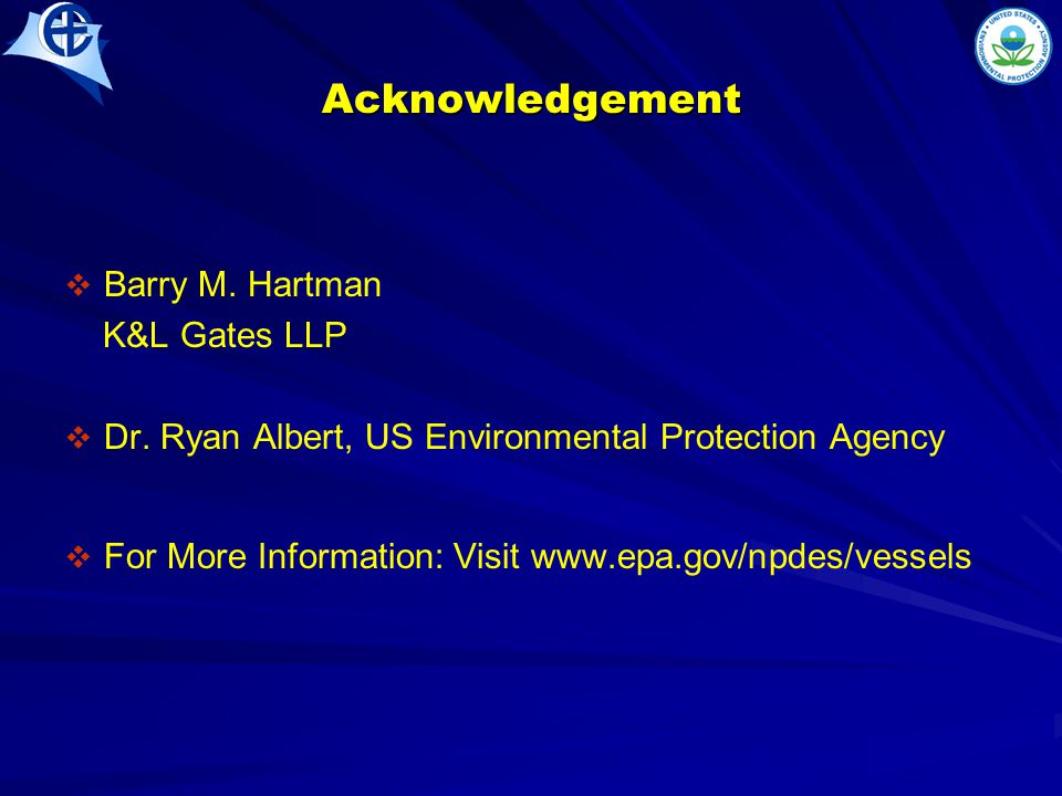 Acknowledgement   Barry M.Hartman K&L Gates LLP   Dr.