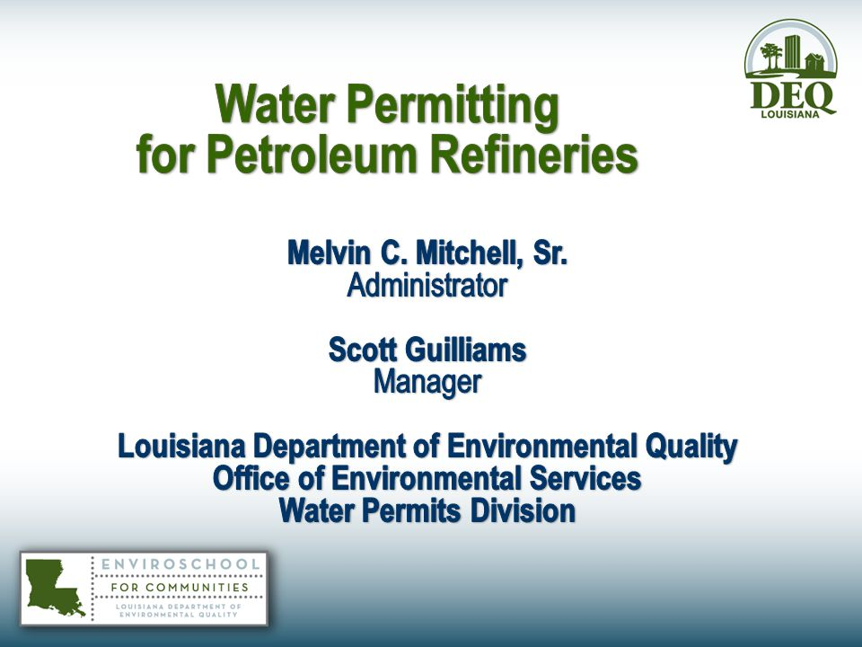 Petroleum Refining Permitting  Once crude oil is pumped out of a well, it is sent to a petroleum refinery and processed to be able to turn it into usable products.