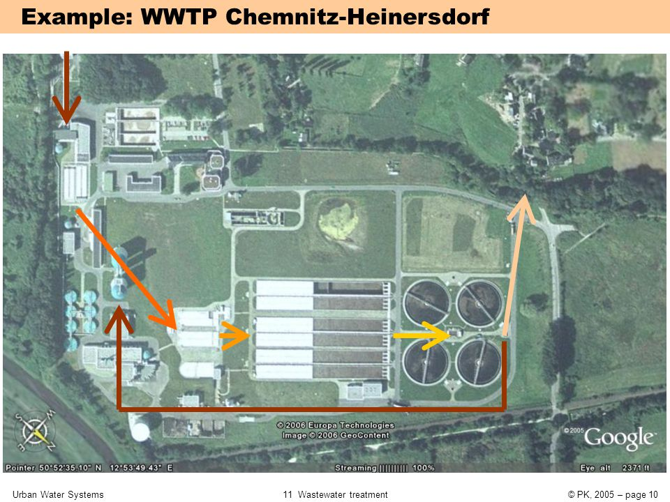 Urban Water Systems11 Wastewater treatment© PK, 2005 – page 10 Example: WWTP Chemnitz-Heinersdorf