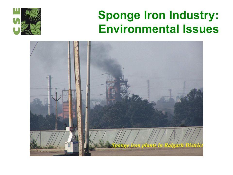 Sponge Iron Industry: Environmental Issues