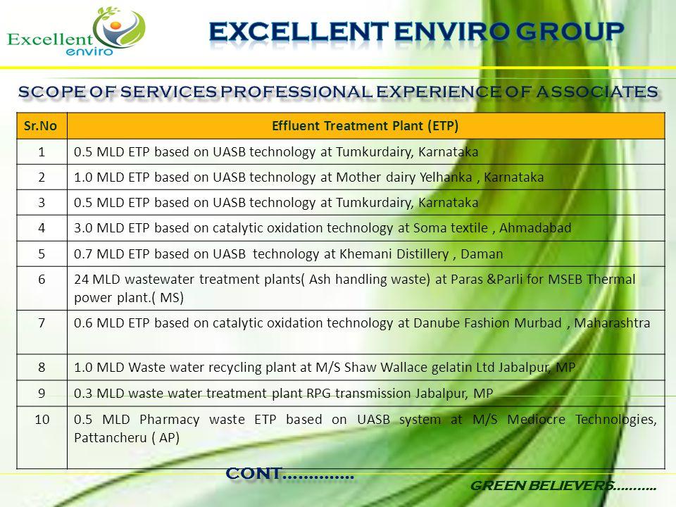 Sr.NoEffluent Treatment Plant (ETP) 10.5 MLD ETP based on UASB technology at Tumkurdairy, Karnataka 21.0 MLD ETP based on UASB technology at Mother da
