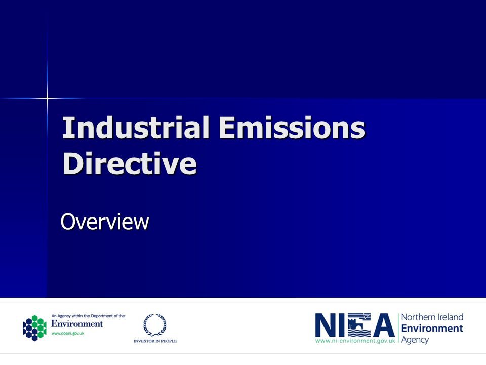 Industrial Emissions Directive Overview