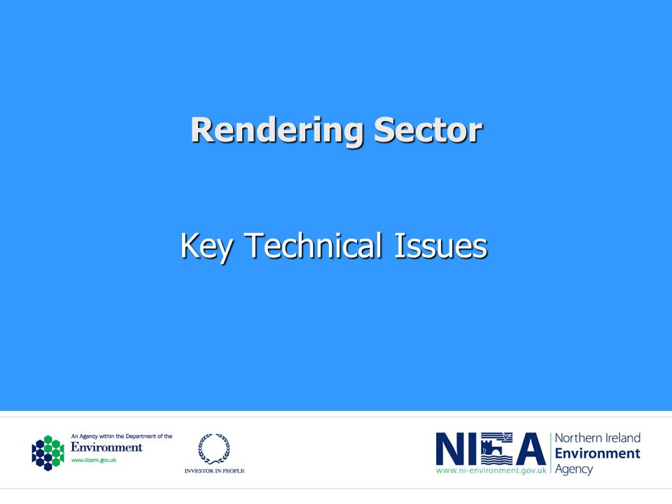 Rendering Sector Key Technical Issues
