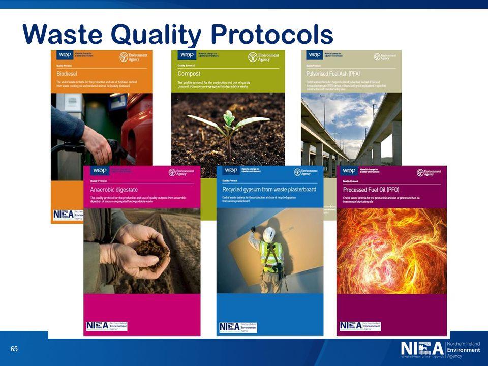 65 Waste Quality Protocols