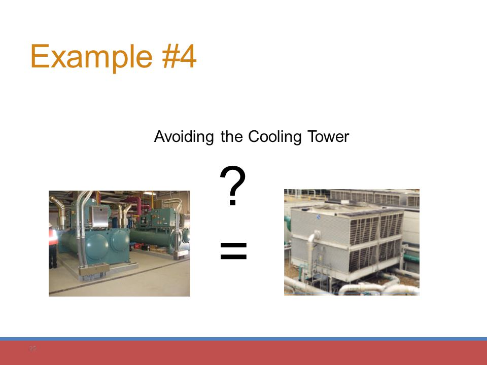 25 Example #4 Avoiding the Cooling Tower ?=?=