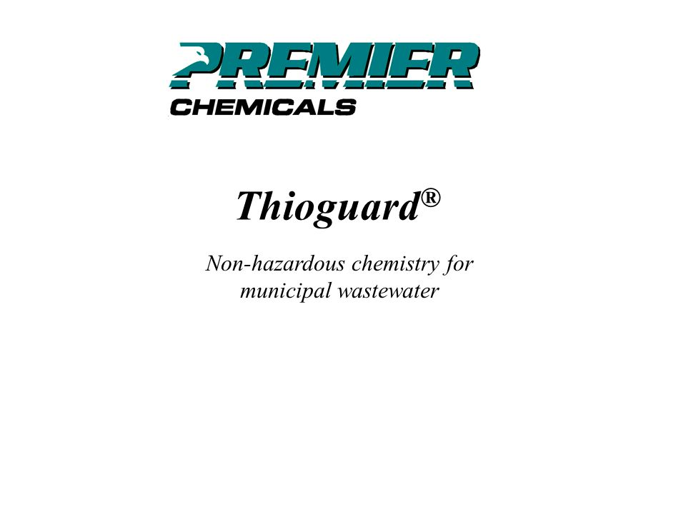 0123456789101113141512 Potassium Permanganate Sodium Hypochlorite Chlorine Hydrogen Peroxide Nitrates Iron Salts Thioguard Relative Cost / MGD Peak Sulfide Concentration (mg/l) Relative Chemical Costs