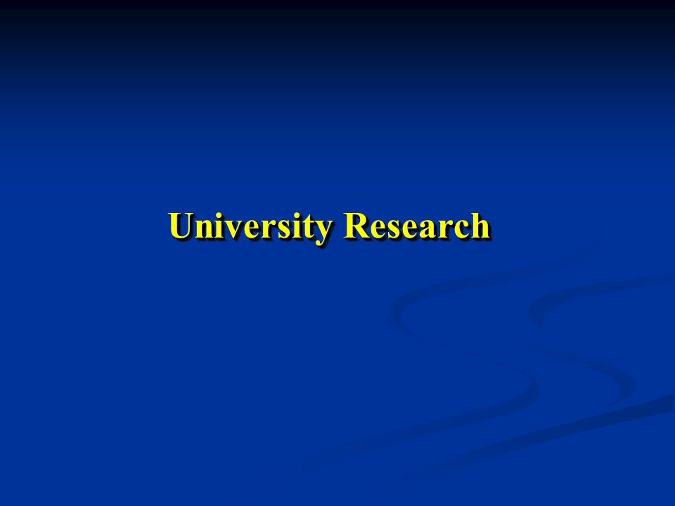 University Research
