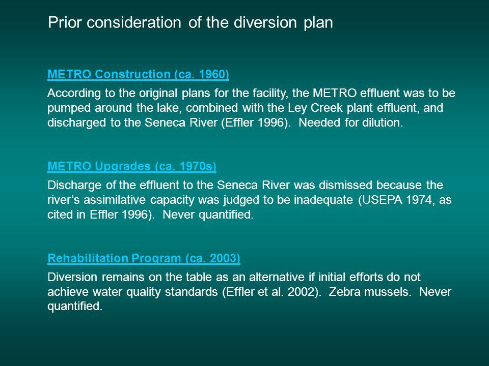 Onondaga Lake Seneca River METRO The Diversion Plan ^ clearer