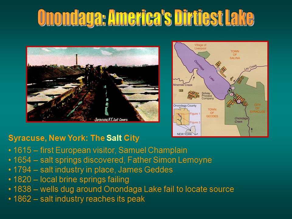Onondaga Lake, located in metropolitan Syracuse, New York, has received the municipal and industrial waste of the region for over 100 years.