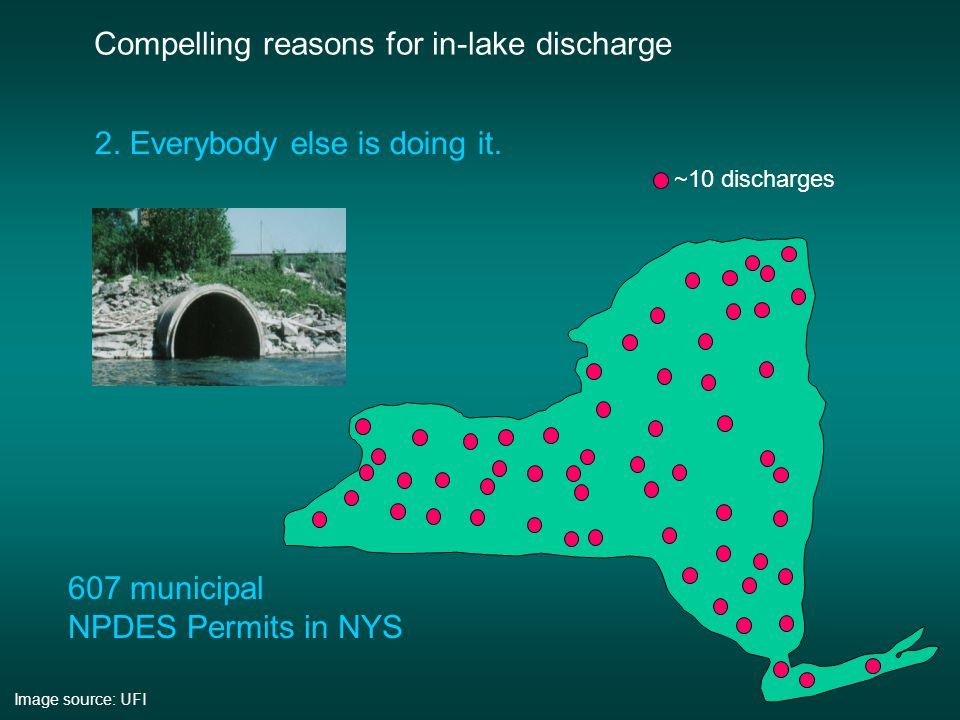 Compelling reasons for in-lake discharge 1.
