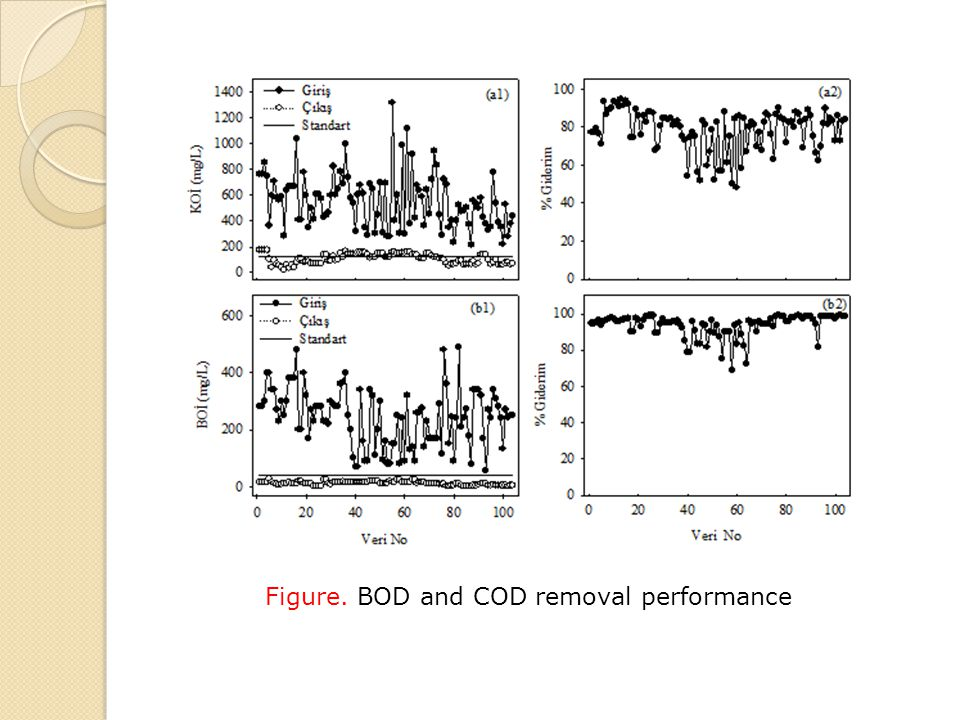 Figure. BOD and COD removal performance