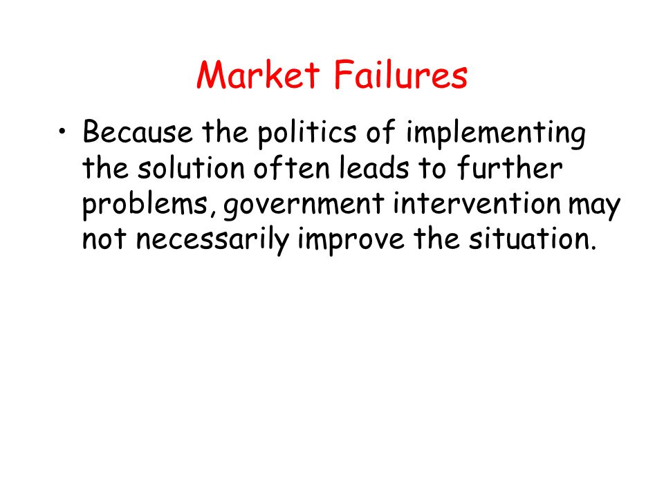 A Market in Information A market in information is one solution to the information problem.