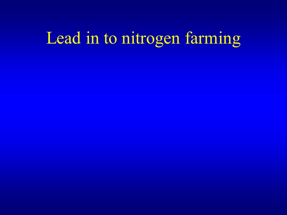 Lead in to nitrogen farming