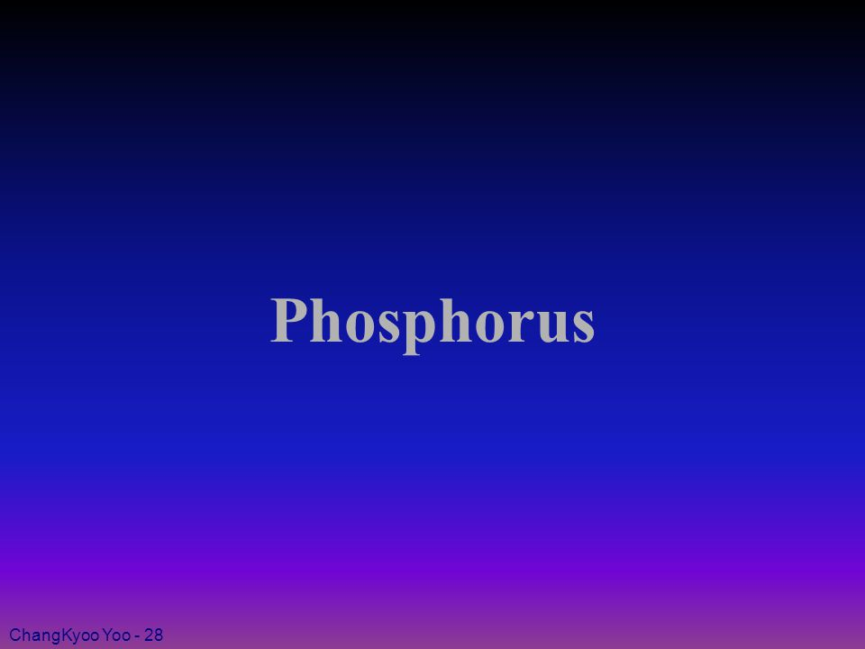ChangKyoo Yoo - 28 Phosphorus