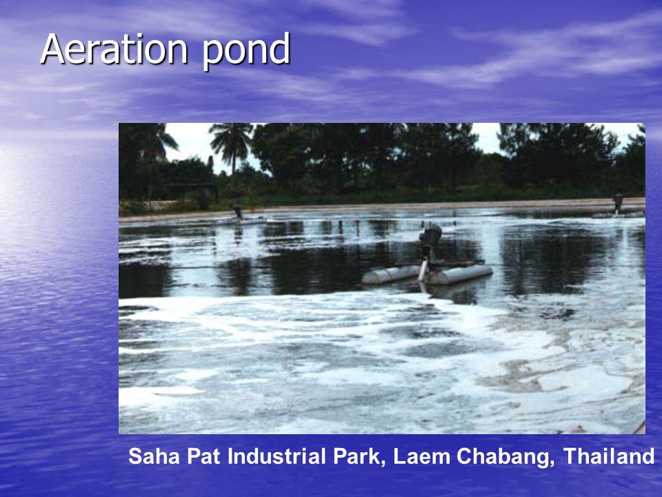 Aeration pond Saha Pat Industrial Park, Laem Chabang, Thailand