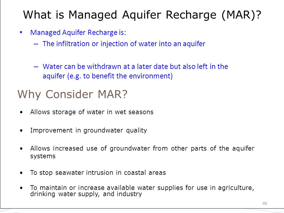 What is Managed Aquifer Recharge (MAR).