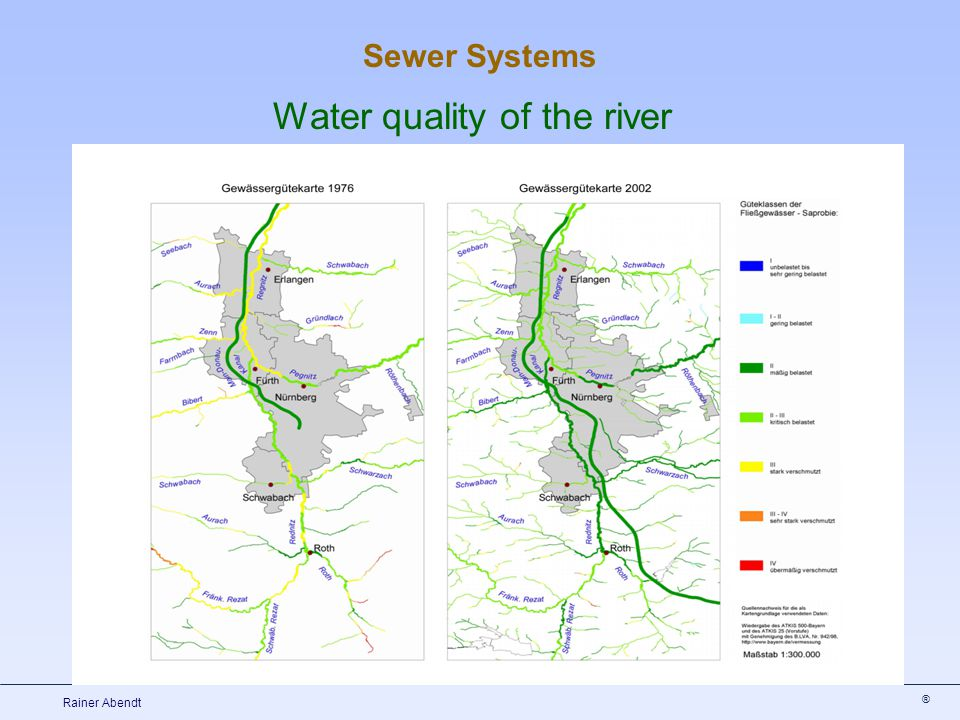 ® Rainer Abendt Water quality of the river Sewer Systems