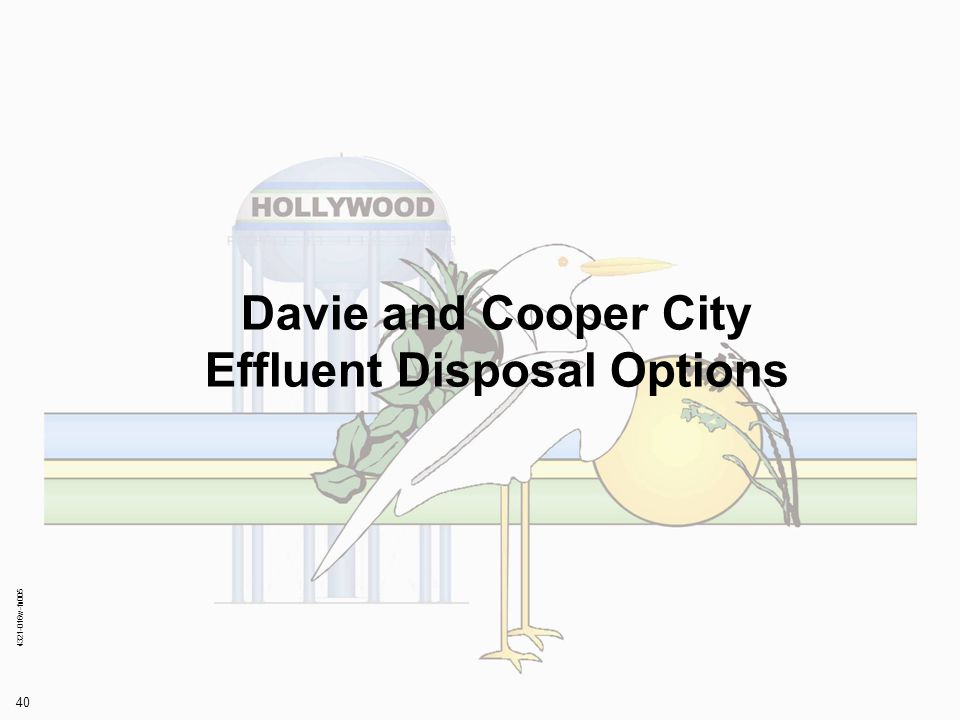 4321-016w-fn005 40 Davie and Cooper City Effluent Disposal Options