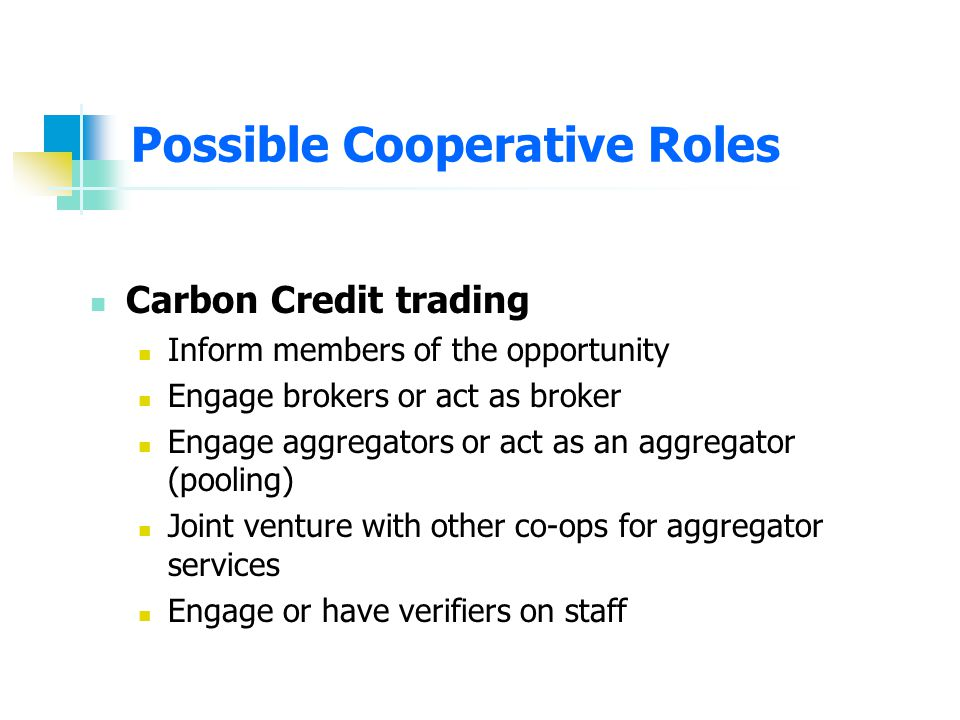 Services Technical assistance Digester management Back-up equipment Manure hauling Financial Possible Cooperative Roles