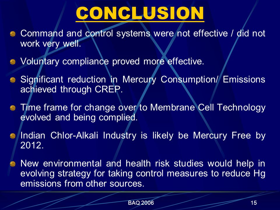 BAQ 200615 CONCLUSION Command and control systems were not effective / did not work very well.