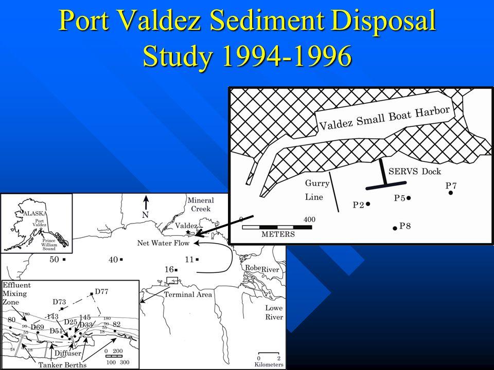 Port Valdez Sediment Disposal Study 1994-1996