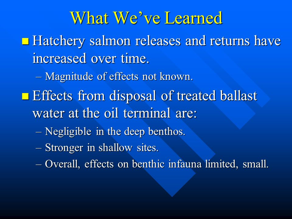 What We've Learned Hatchery salmon releases and returns have increased over time.