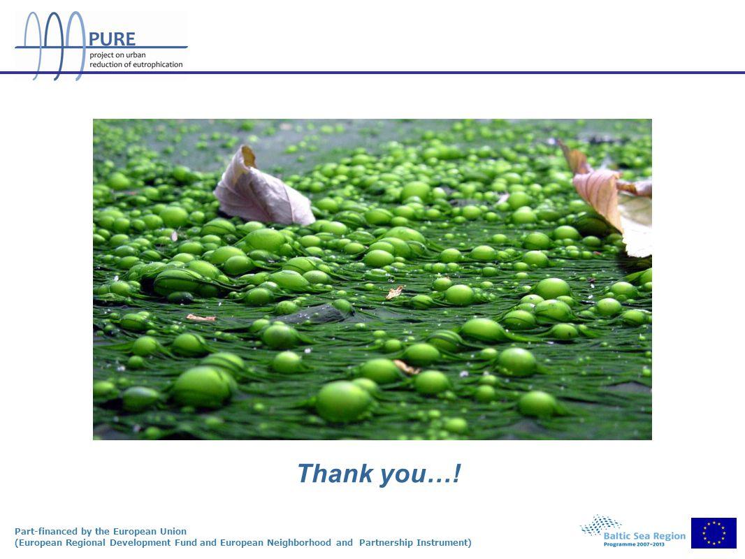 Part-financed by the European Union (European Regional Development Fund and European Neighborhood and Partnership Instrument) Thank you…!