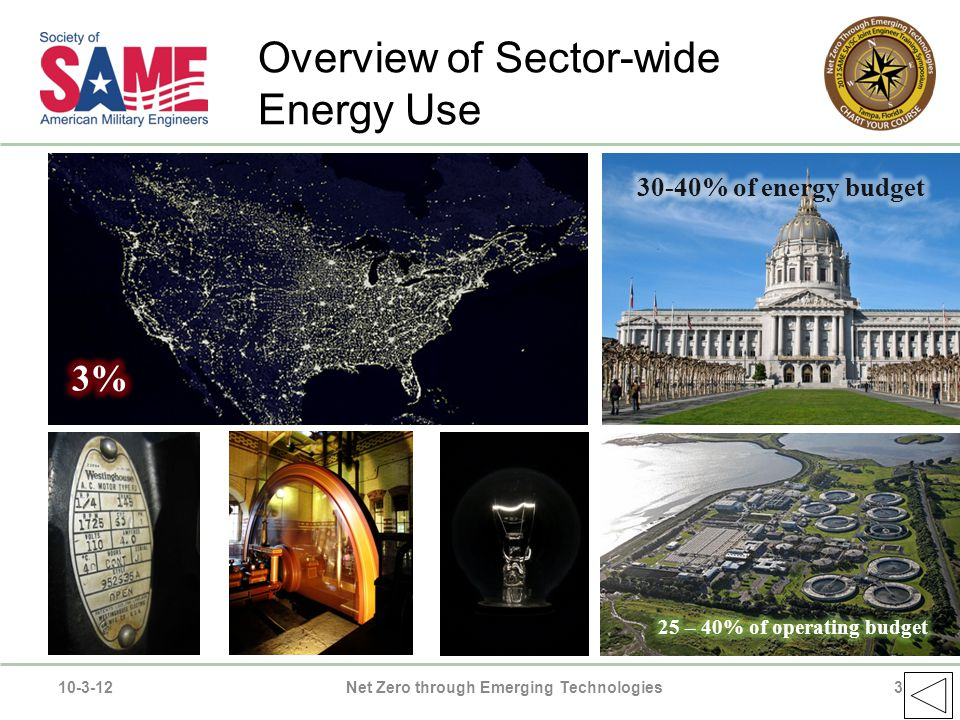 Overview of Sector-wide Energy Use 10-3-12Net Zero through Emerging Technologies3