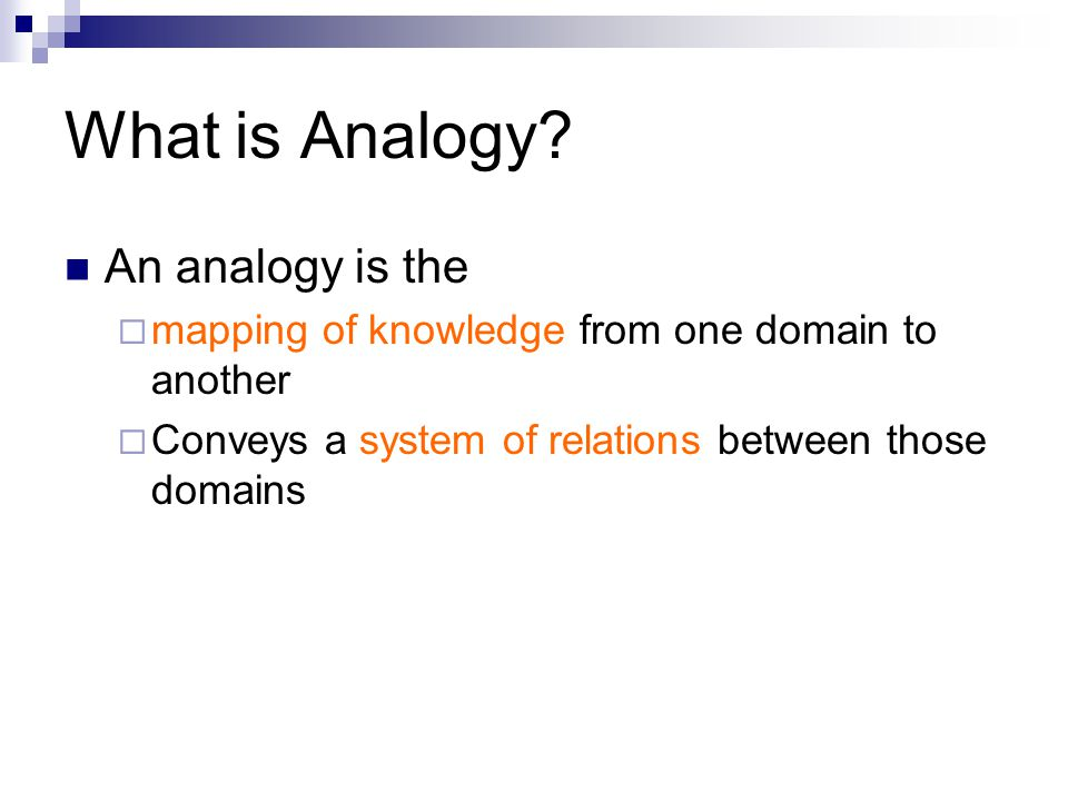 What is Analogy.