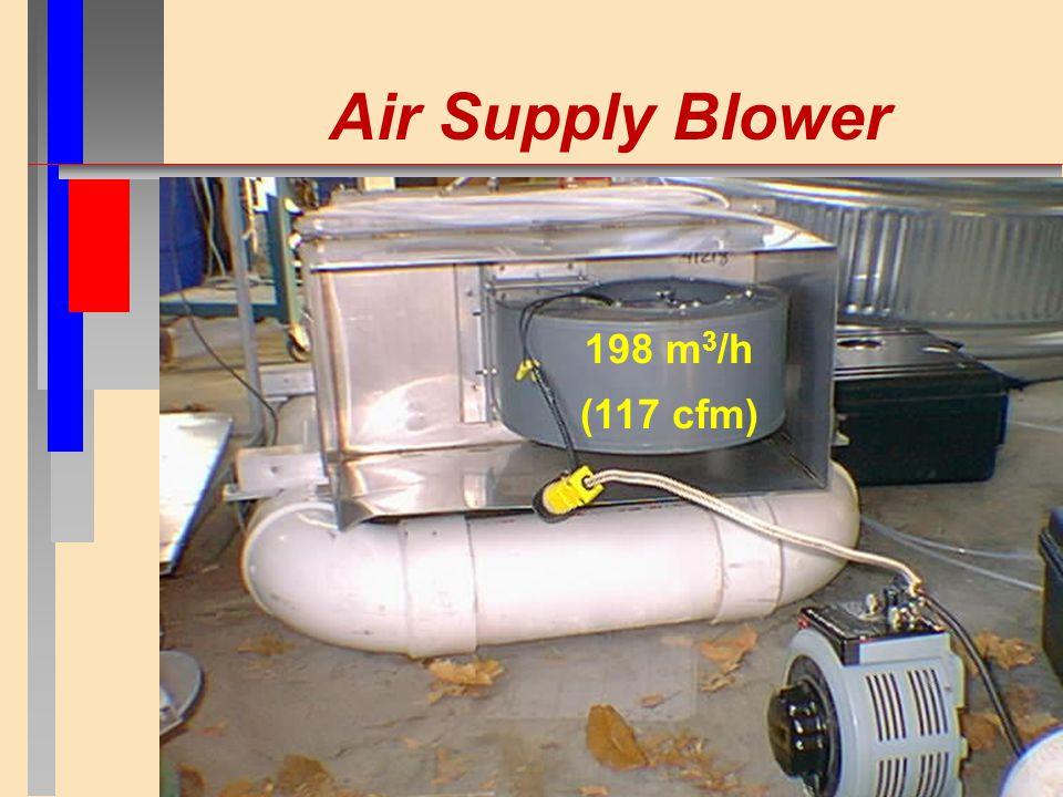 Air Supply Blower 198 m 3 /h (117 cfm)