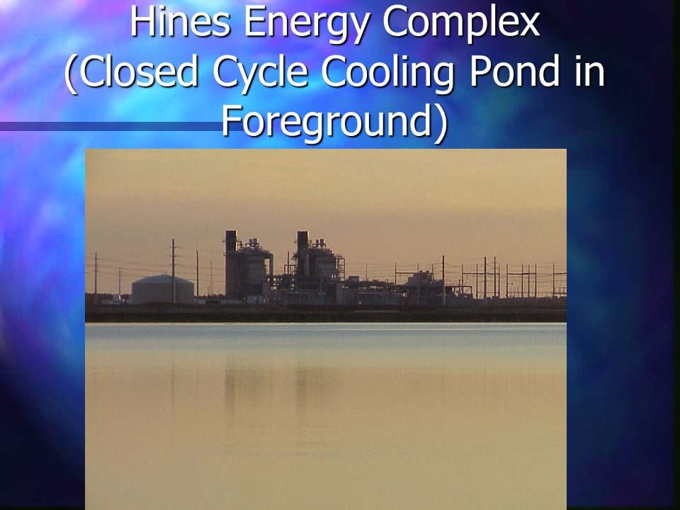 Hines Energy Complex (Closed Cycle Cooling Pond in Foreground)