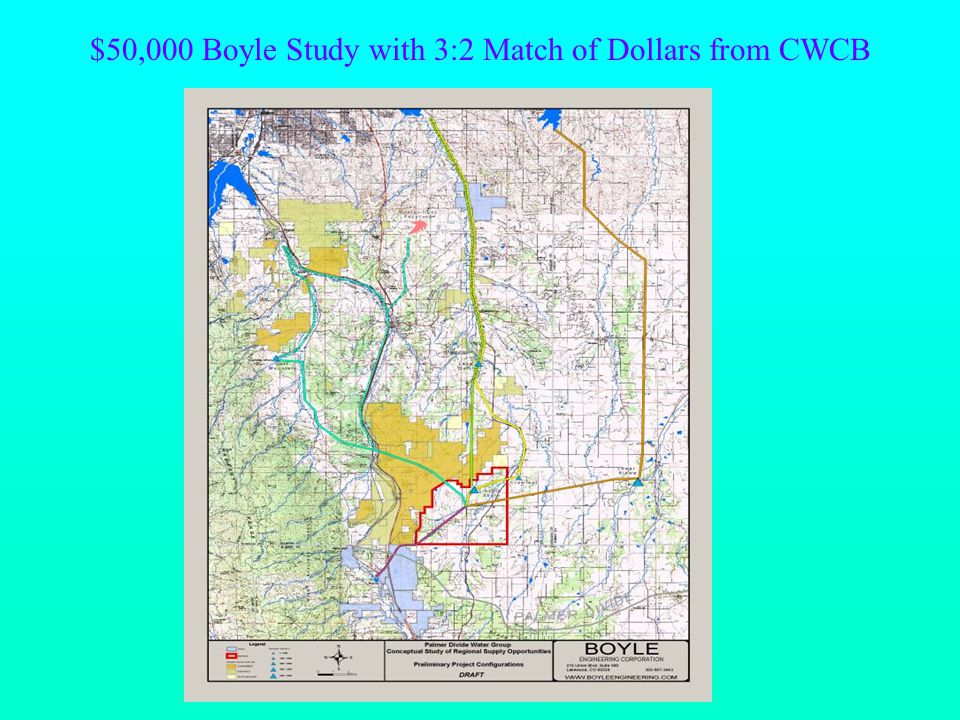 $50,000 Boyle Study with 3:2 Match of Dollars from CWCB