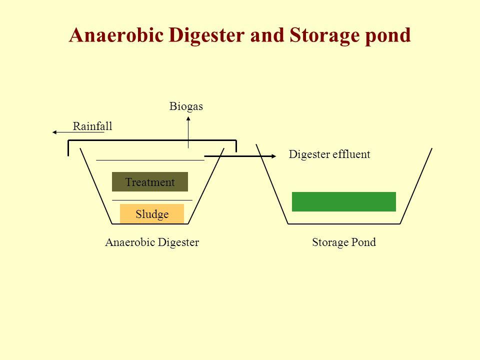Anaerobic Digester and Storage pond Treatment Sludge Biogas Anaerobic DigesterStorage Pond Rainfall Digester effluent