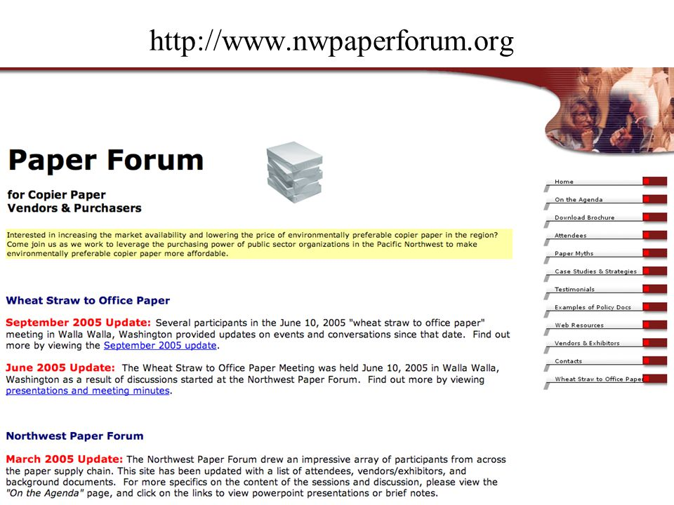 http://www.nwpaperforum.org