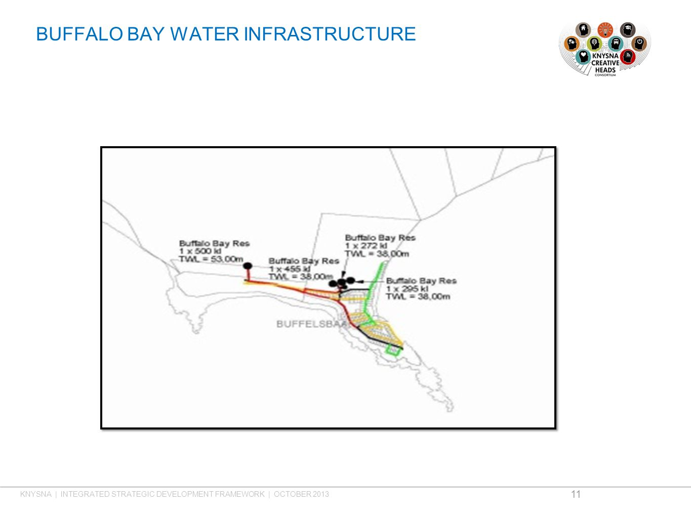 BUFFALO BAY WATER INFRASTRUCTURE 11 KNYSNA | INTEGRATED STRATEGIC DEVELOPMENT FRAMEWORK | OCTOBER 2013
