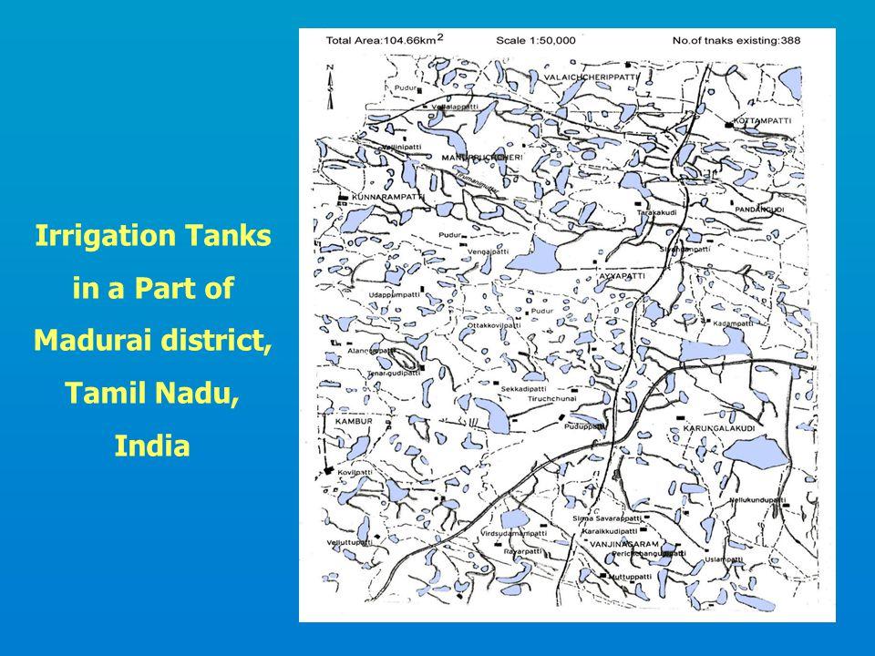 Irrigation Tanks in a Part of Madurai district, Tamil Nadu, India