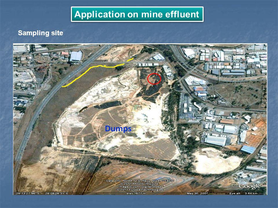 Application on mine effluent Sampling site