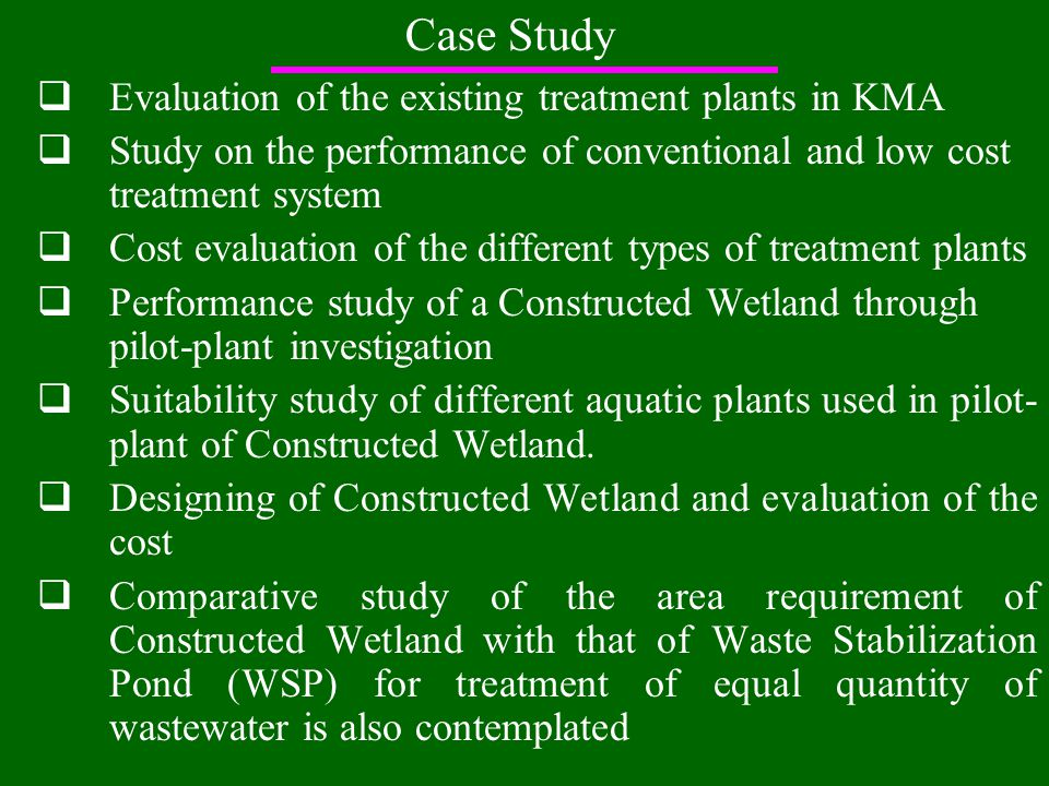 Why constructed wetland.