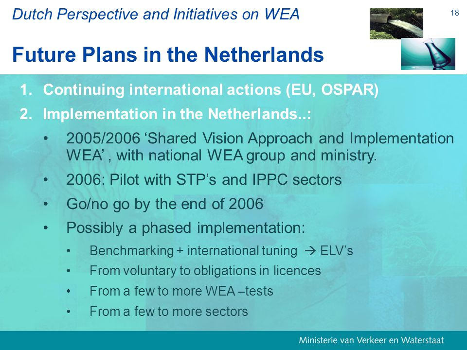 18 1. 1.Continuing international actions (EU, OSPAR) 2.