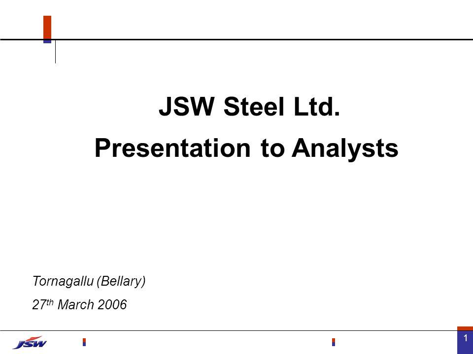 22 JSW Steel – Gearing Ratios EBIDTA / Interest Debt / equity