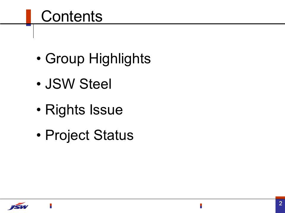 23 Going forward... JSW Steel